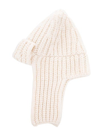 Stella McCartney Wool Rib Knit Hat None