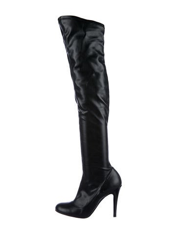 Stella McCartney Vegan Over-The-Knee Boots None