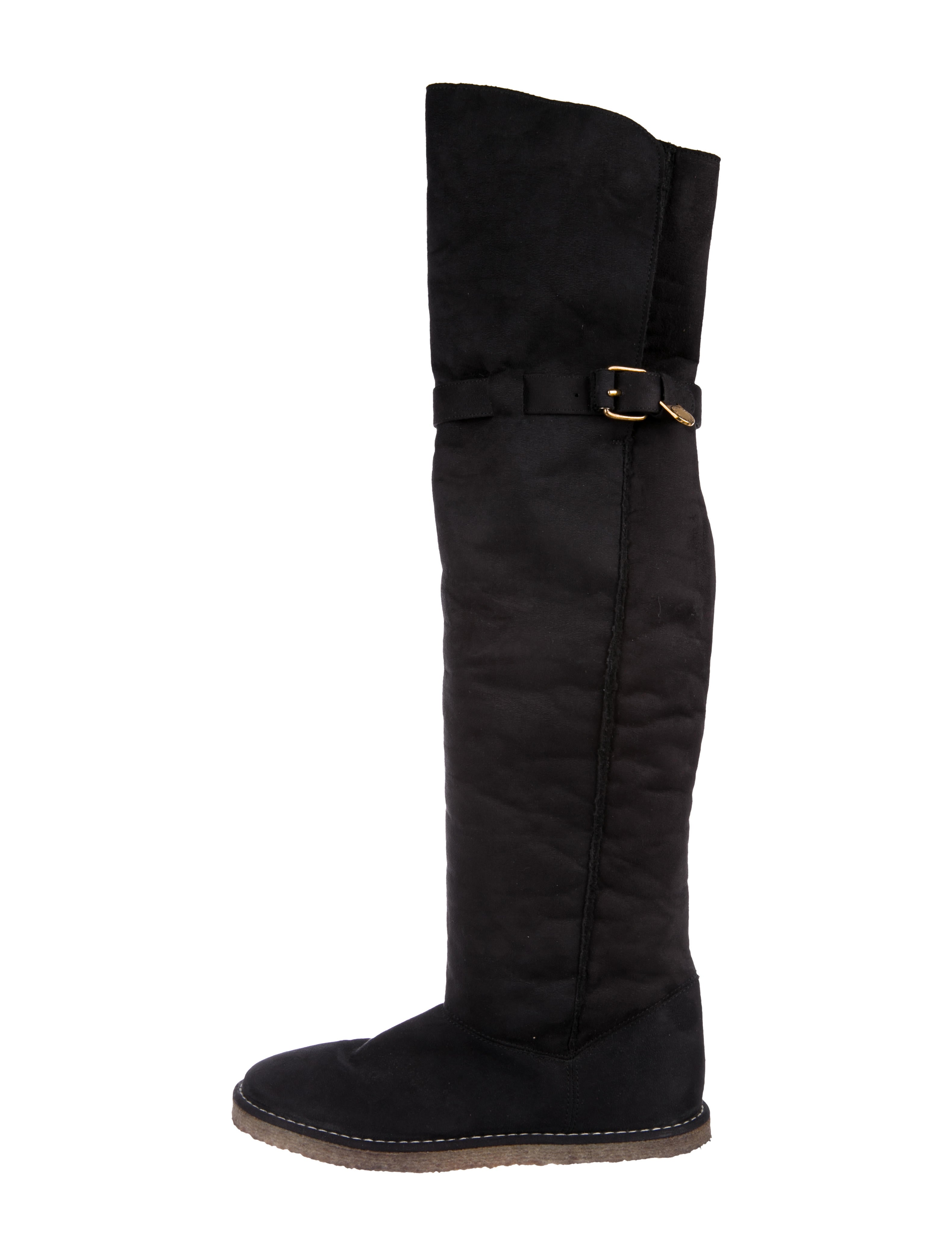clearance store sale online Stella McCartney Fleece-Trimmed Knee Boots Cheapest with paypal outlet a56Lh