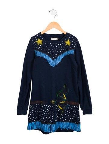 Stella McCartney Girls' Trompe L'oeil Sweatshirt Dress None
