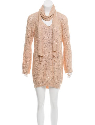Stella McCartney Sequin Sweater Dress None