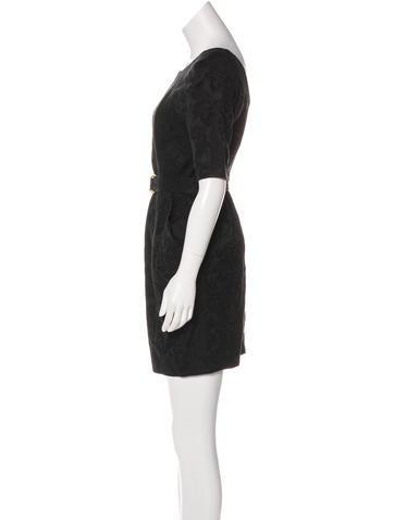 Linen-Blend Mini Dress