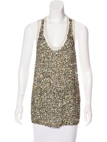 Stella McCartney Sequined Knit Top None