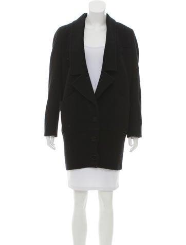 Stella McCartney Wool-Cashmere Short Coat None