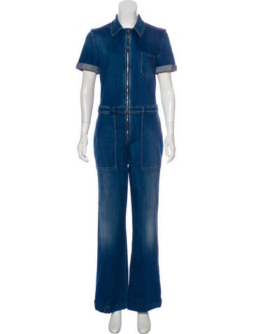 Stella Mc Cartney Wide Leg Denim Jumpsuit by Stella Mc Cartney
