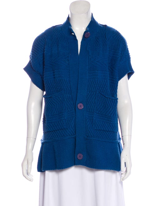 Stella McCartney Short Sleeve Button-Up Cardigan