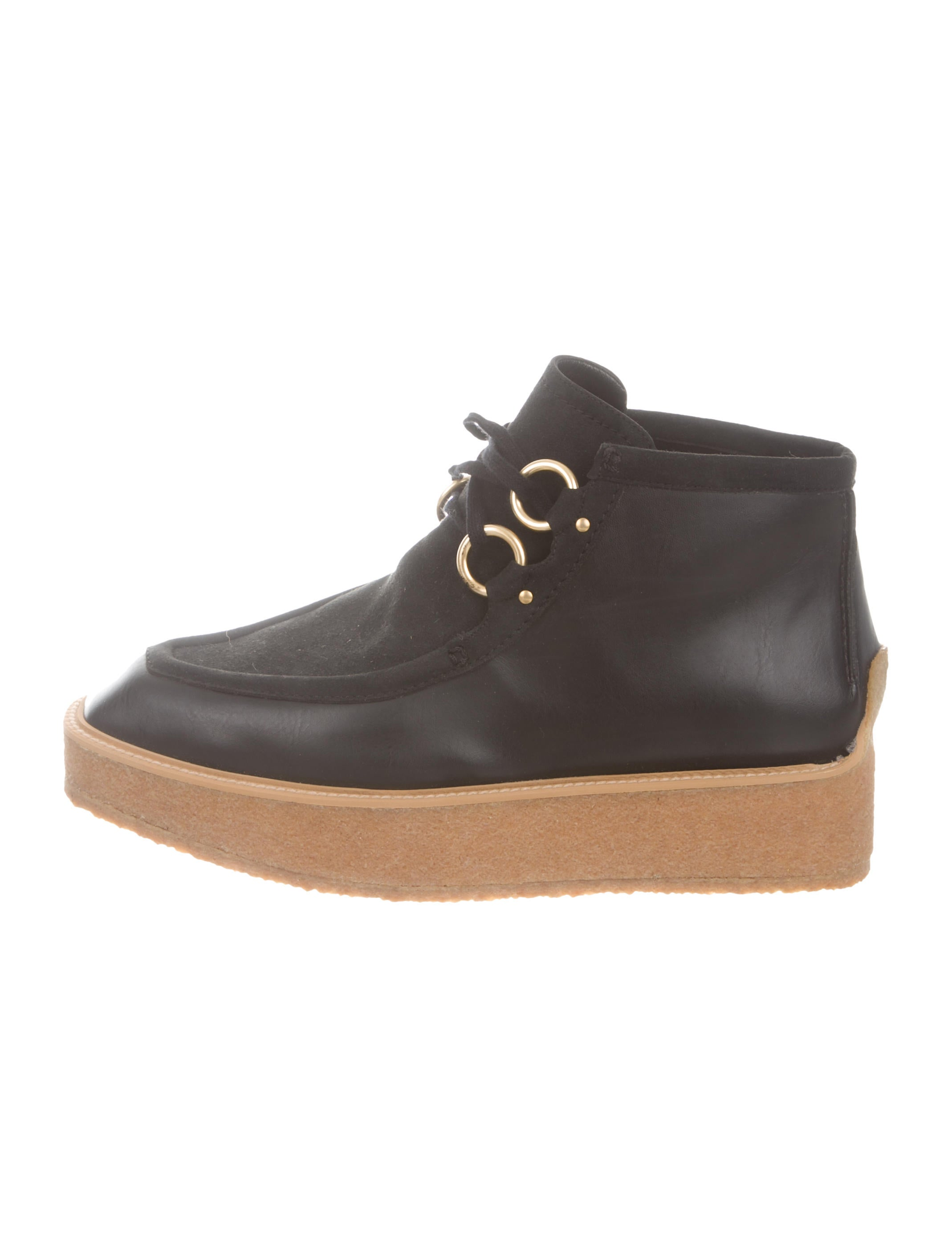 dca9dd881892 Stella McCartney Vegan Platform Ankle Booties - Shoes - STL89211 ...
