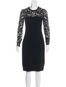 aef395cdada Stella McCartney. Lace-Trimmed Bodycon Dress. Size  M