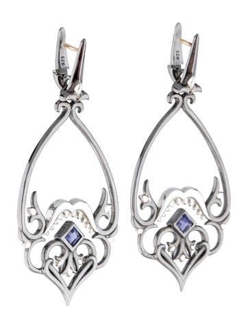 Sterling Silver Iolite Earrings