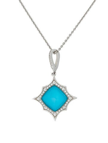 Stephen Webster Turquoise & Quartz Doublet Pendant Necklace