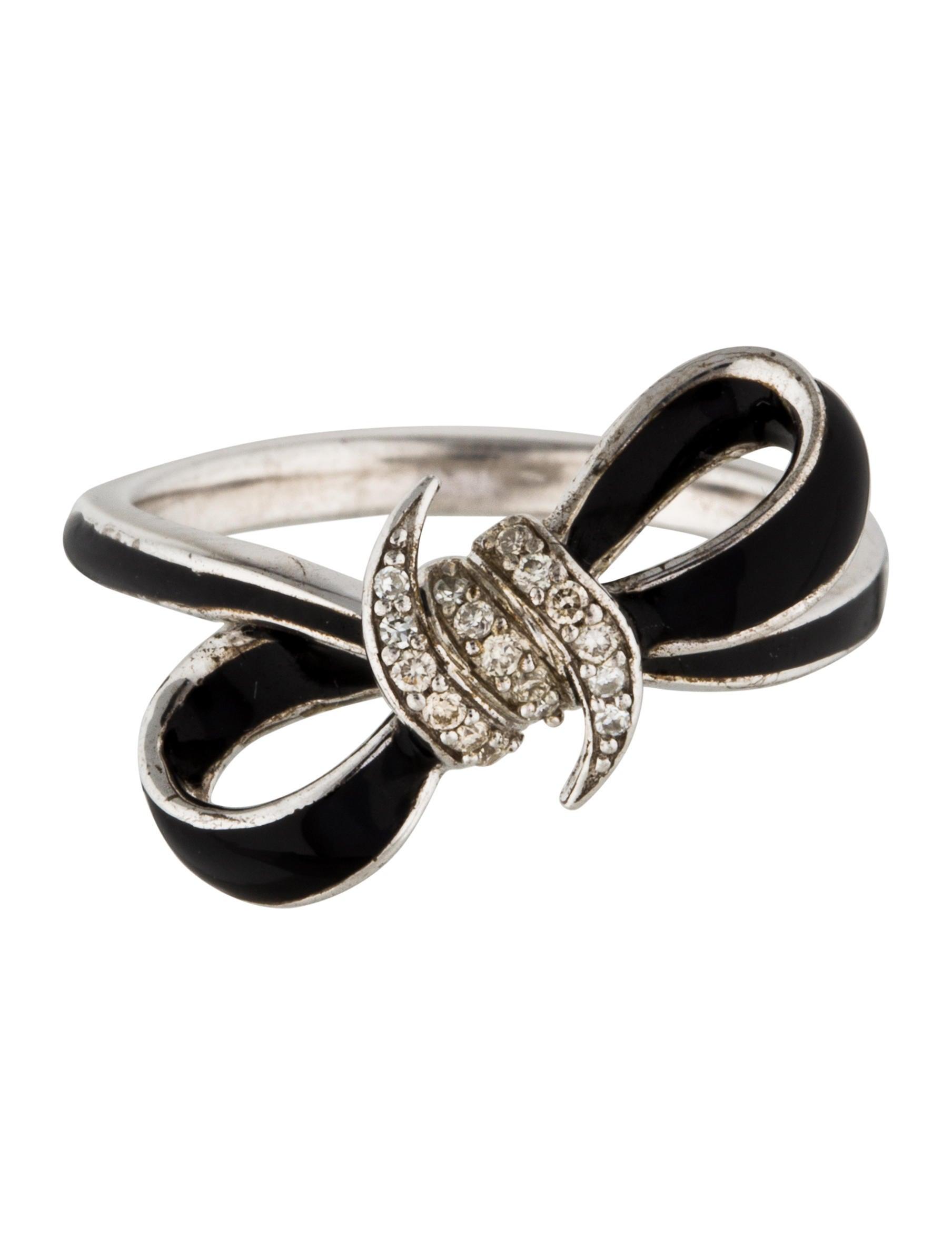 Ring Bow Il Gioiello Personalizzabile Con La Tua Nailart: Stephen Webster Diamond & Enamel Forget Me Knot Mini Bow