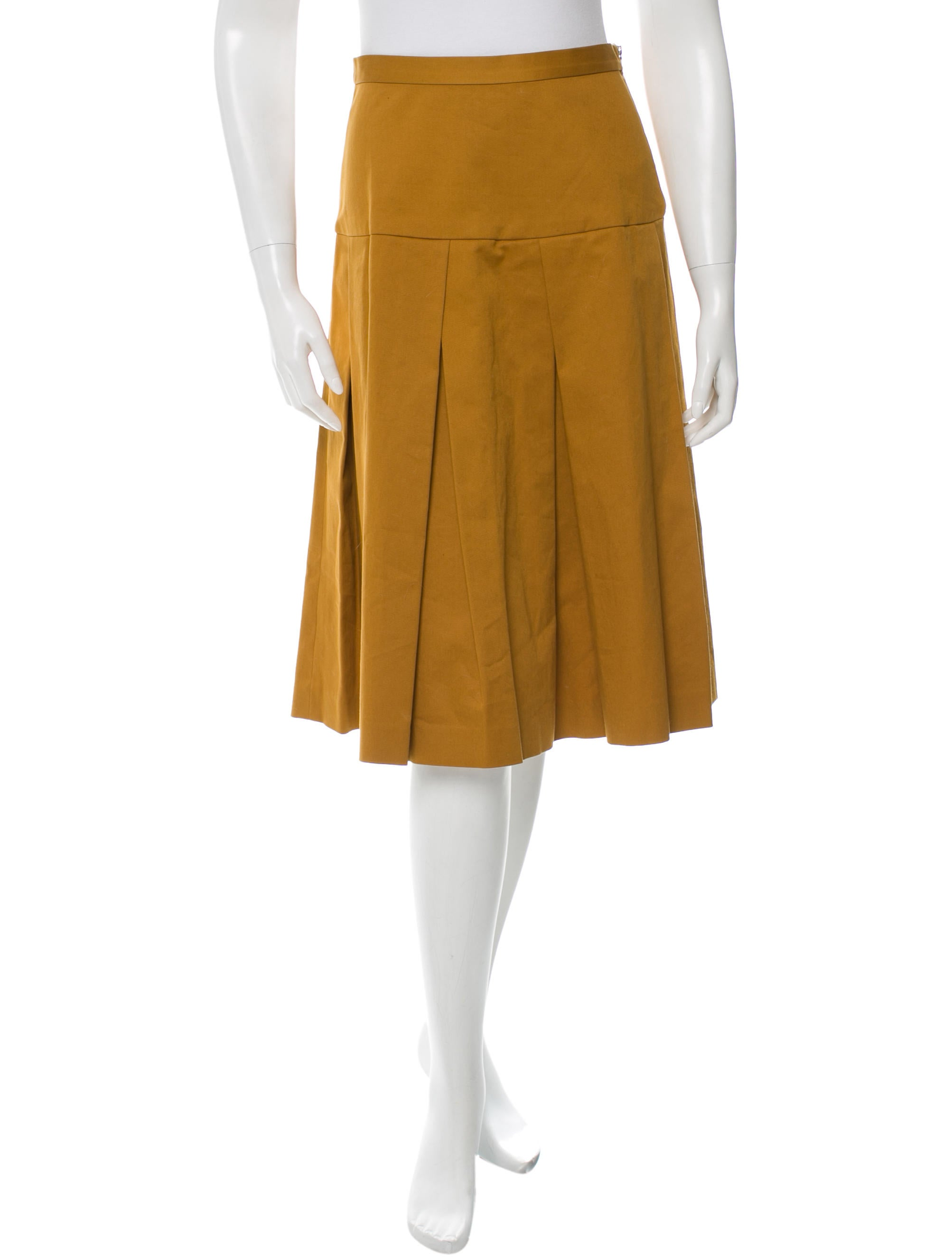 suno pleated a line skirt clothing sun21072 the realreal