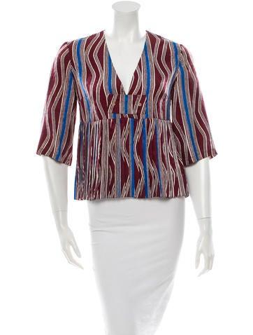 Silk Patterned Blouse