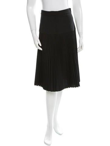 Virgin Wool Pleated Skirt w/ Tags