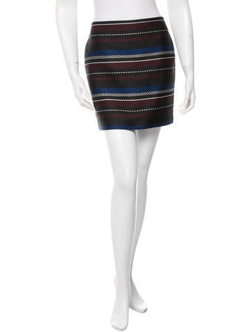 Suno Stripe Pattern Skirt w/ Tags None