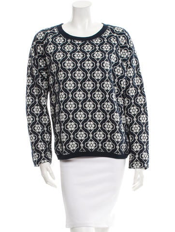 Suno Patterned Knit Sweater None