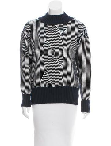 Suno Striped Wool Sweater None