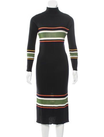 Suno Wool Rib Knit Dress None