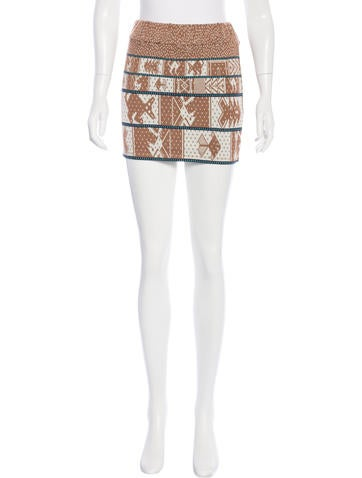 Suno Patterned Mini Skirt w/ Tags None