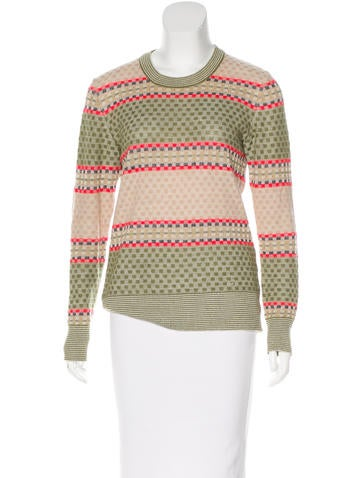 Suno Patterned Alpaca Sweater None