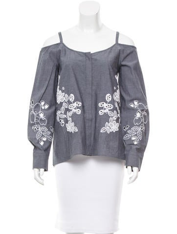 Suno Embroidered Off-The-Shoulder Top w/ Tags None