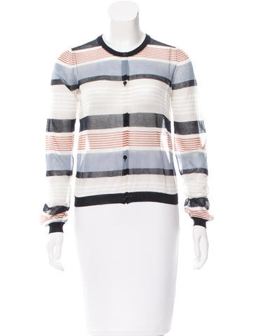 Suno Striped Sheer Cardigan w/ Tags None