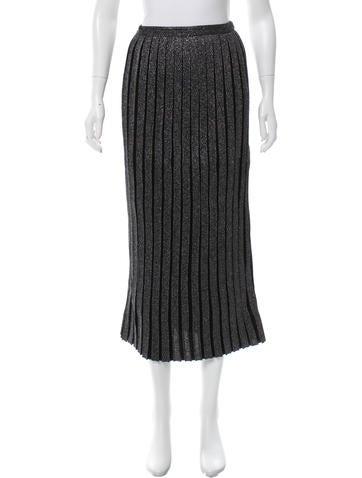 Suno Metallic Pleated Skirt w/ Tags None