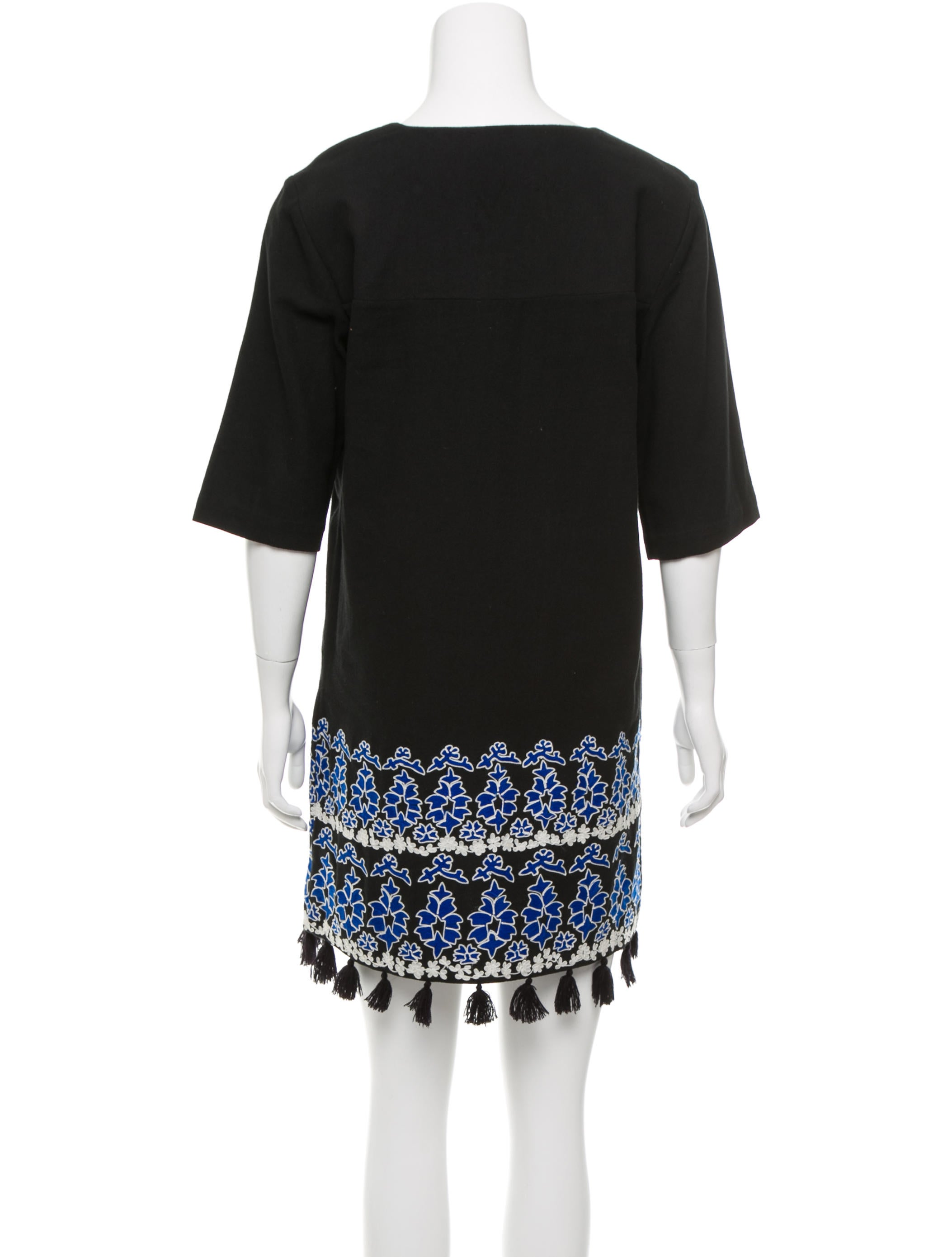 Suno embroidered tassel dress clothing sun the
