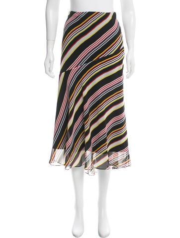Suno Striped Midi Skirt