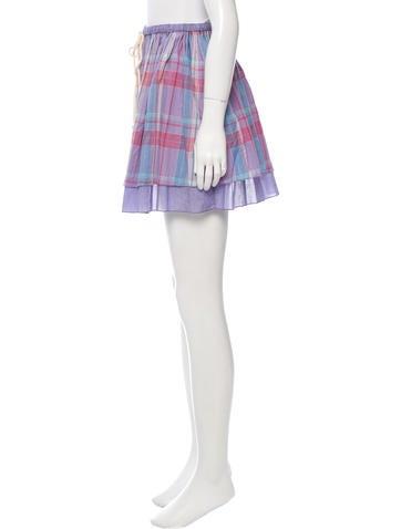 Plaid Patterned Mini Skirt