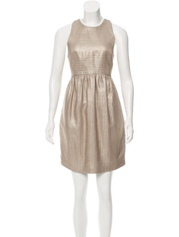 Suno Metallic Striped Dress None