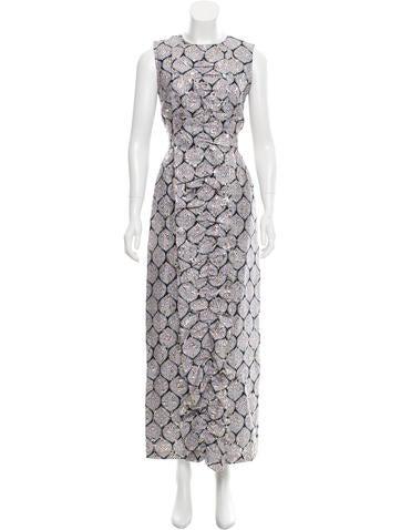 Suno Brocade Pleated Dress