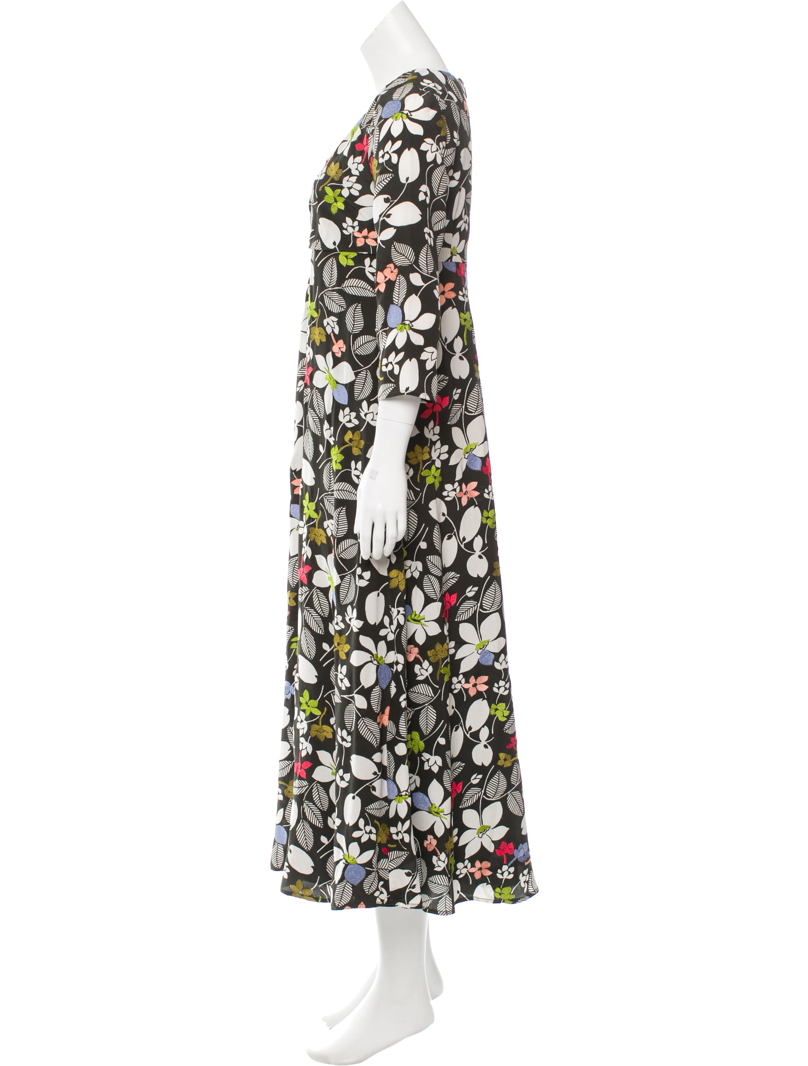 Suno floral embroidered maxi dress clothing sun
