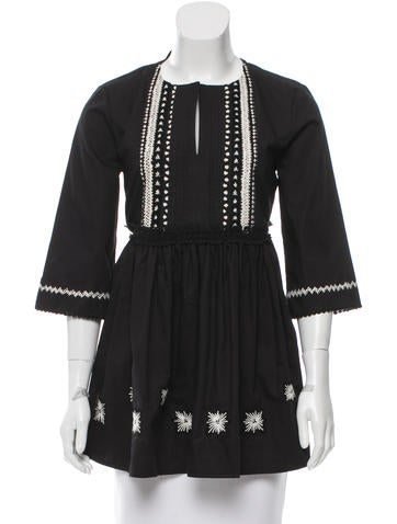 Suno Embroidered Tunic Top w/ Tags