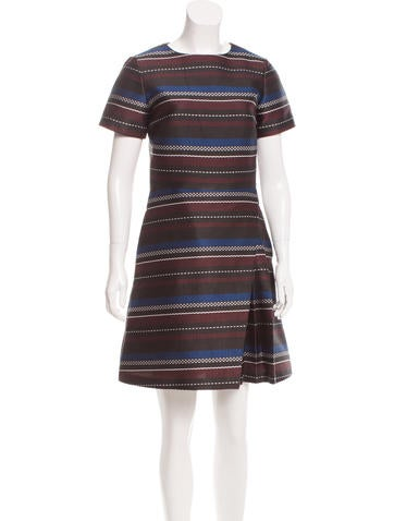 Suno Striped Jacquard Dress None