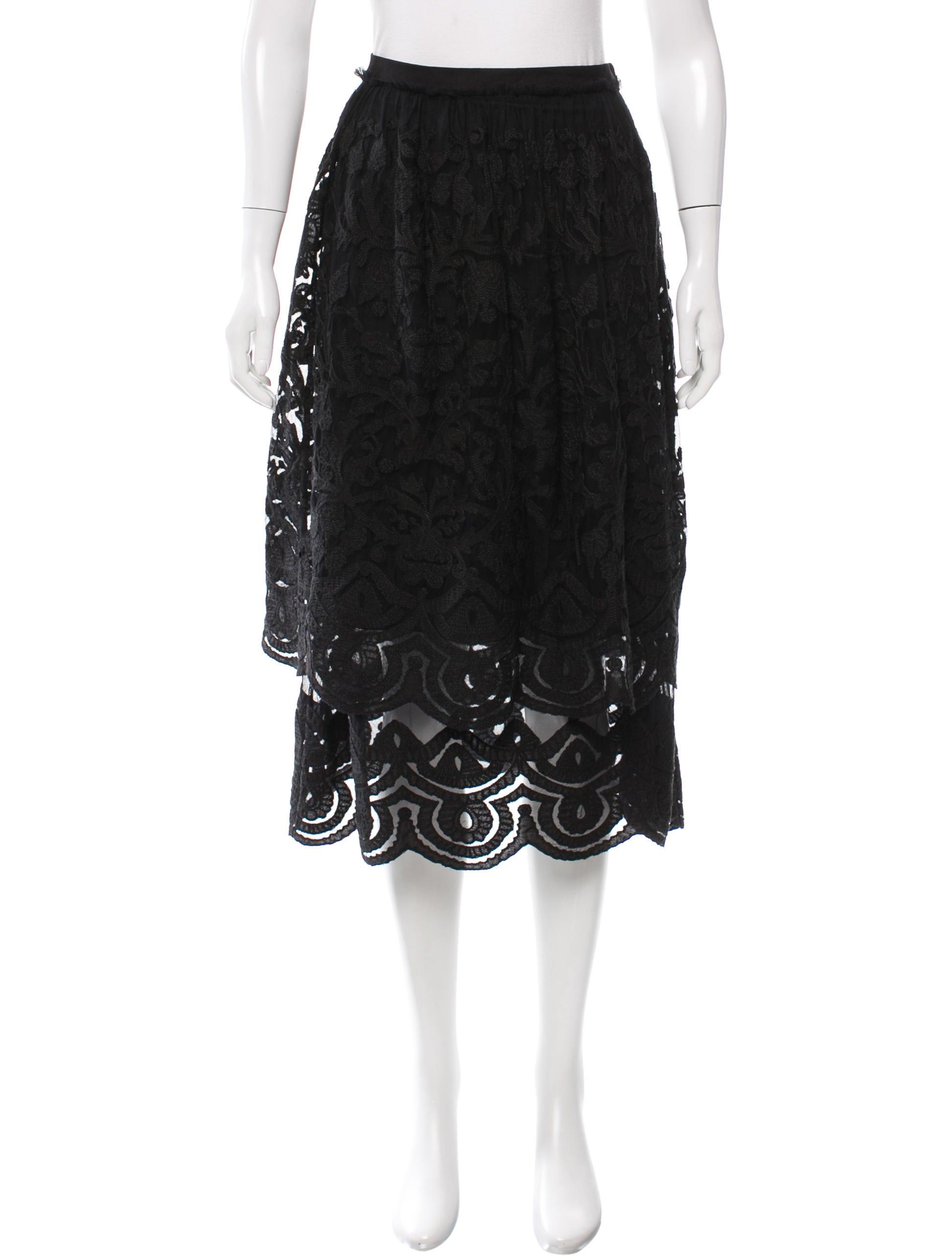 suno embroidered midi skirt clothing sun24098 the