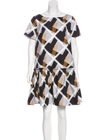 Suno Short Sleeve Mini Dress None