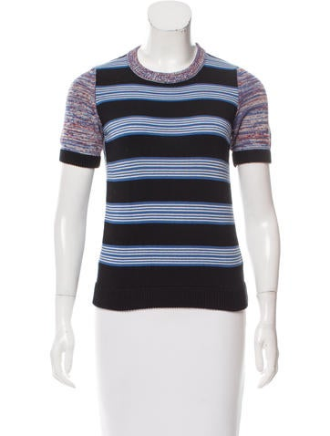 Suno Patterned Short Sleeve Sweater None