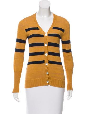 Suno Striped Button-Up Cardigan None