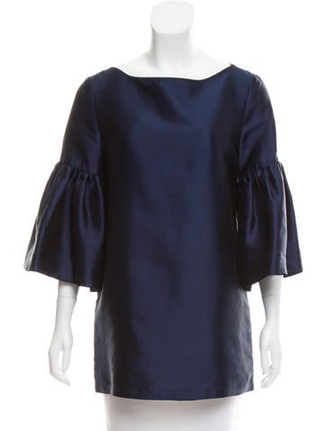 Suno Silk-Blend Bateau Neck Top None