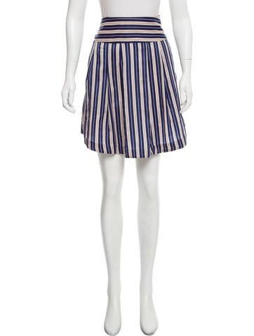 Suno Striped Knee-Length Skirt None