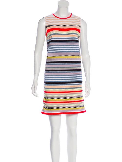 Suno Striped Sleeveless Dress White