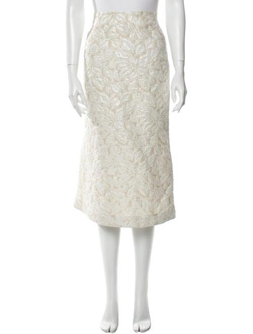 Suno Printed Midi Length Skirt w/ Tags Metallic