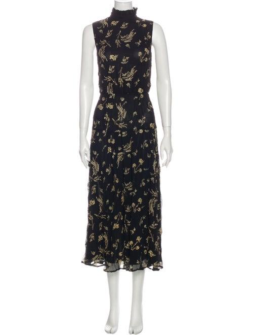 Suno Silk Long Dress Black