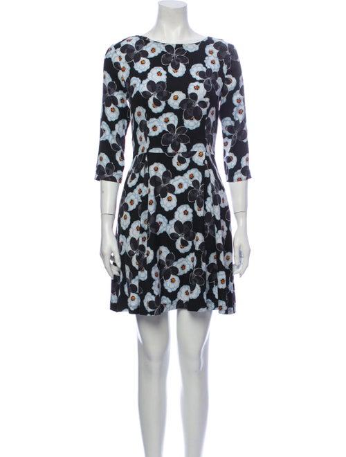 Suno Silk Mini Dress Black