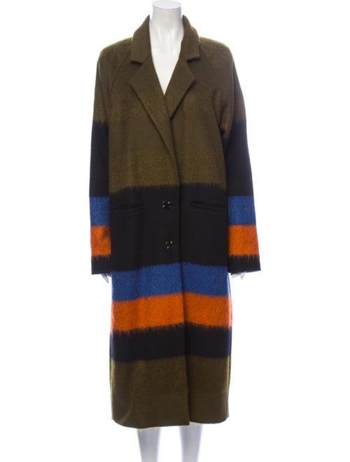 Suno Striped Coat Green