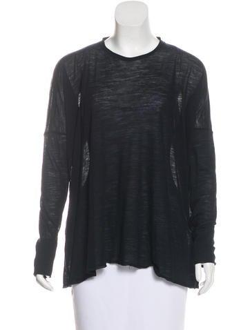 Superfine Wool Long Sleeve Top None