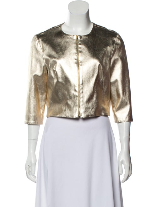 Susan Bender Metallic Leather Jacket Gold