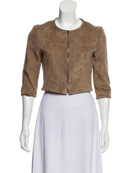 Susan Bender Suede Crop Jacket Tan