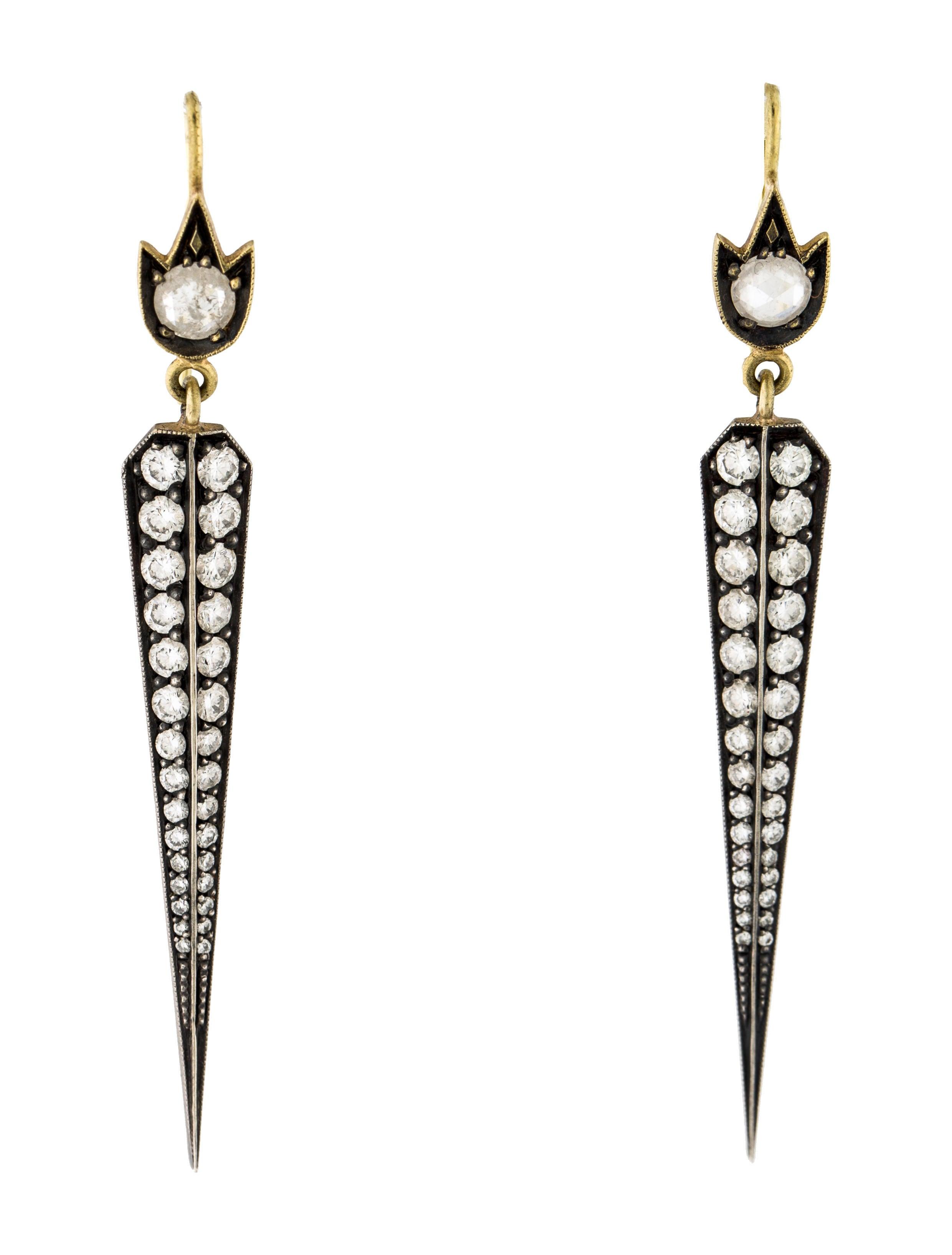 Sylva Cie Sylva Cie Diamond Tulip Top Dagger Drop